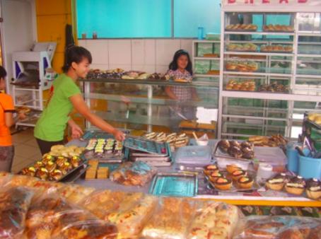 Boulangerie locale à Sumatra