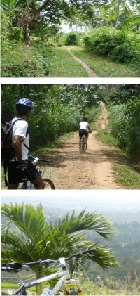 Riding bikes from Mundunk to Pupan in Bali with Archipelago Adventure