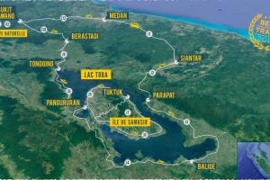 Carte road trip Sumatra aventure Royal Enfield moto