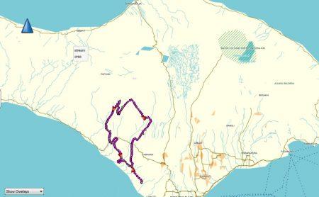map Bali Trail